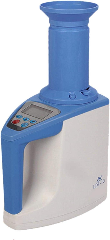 MOVKZACV Medidor Digital de Humedad de Cereales, Detector de Humedad de Grano, LDS-1G Pantalla LCD Probador de Humedad de Grano para Café Arroz Trigo Soja Maíz Sorgo