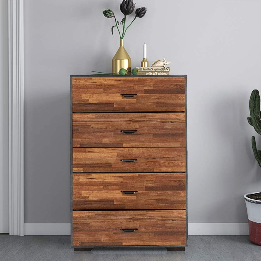 Goujxcy 5-Drawer Tall Chest Dresser online shopping Wide with Spa Don't miss the campaign Storage
