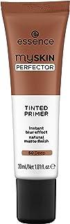 essence | My Skin Perfector Tinted Primer | Instant Blur Effect & Natural Matte Finish | Vegan, Paraben Free, Oil Free | Cruelty Free | (50 | Deep)