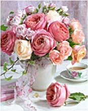 Ukerdo DIY Diamond Painting Kits Full Drill Flower Pictures for Home Living Room Wall Arts Décor