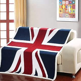 USTIDE Super Soft Union Jack Fleece Blanket The Sherpa Throw Blanket Super Comfy Blanket Comfort Caring Gift Blanket 51