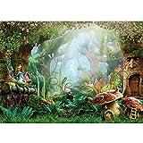 Allenjoy 7X5ft Spring Cartoon Fairy Tale Mushroom Forest Backdrop Children Kids Fancy Birthday Party Decor Newborn Baby Shower Fantasy Backgrounds Studio Photo Booth
