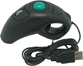 Trackball Mouse, YUMQUA Y-10 Handheld USB Wired Finger Mouse for Computer/Laptop/Mac, Fits Left and Right Handed/Carpal Tunnel Users