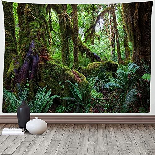 XGguo Tapiz,para Colgar en la Pared,Hecho a Mano,en algodón Puro, Impresión de la Pared del Arte del paño Que cuelga del Bosque