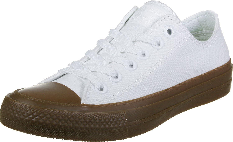 Converse CTAS Chuck Taylor All Star II OX White White Gum 6.5 Mens 8.5 Womens
