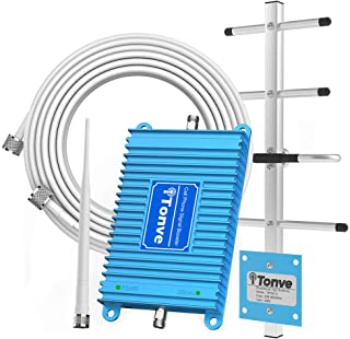 Home 4G Cell Phone Signal Booster AT&T T-Mobile 700MHz Band 12/17 FDD Mobile Signal Repeater Amplifier Antenna Kits Including Outdoor Directional Yagi Antenna and Indoor Omni-Directional Whip Antenna