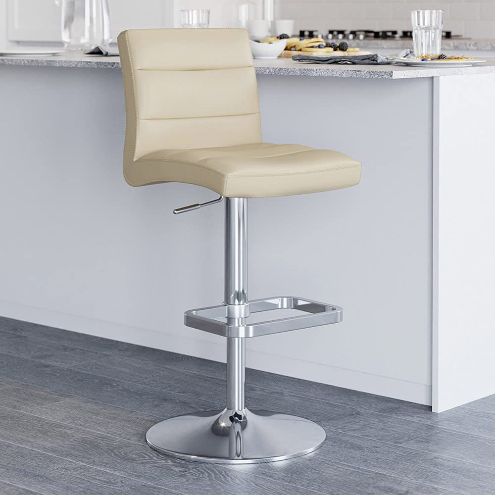 Zuri Furniture Clearance SALE Limited Ranking TOP16 time Taupe Lush Adjustable Swivel S Height Armless Bar