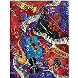 MAIYOUWENG Puzzle Premium da 1000 Pezzi Progettato Appositamente per Gli Adulti- Modello di Strumento Musicale, Modello di Arte di Musica Astratta - Incredibile