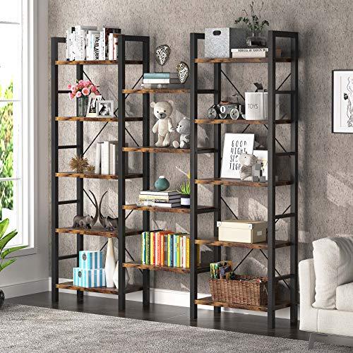 Tribesigns Libreria Scaffale, Libreria a 14 Scomparti Aperti, Industriale Scaffale per Ufficio, Studio, Ingresso, Balcone, 178x30x178cm