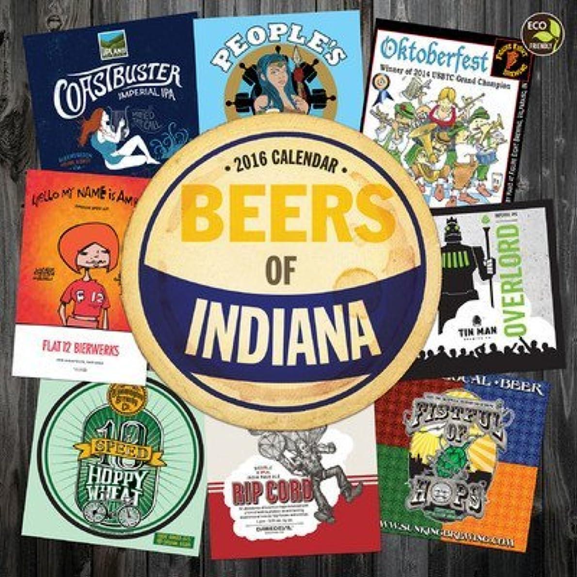 周術期パークバースBeer Labels of Indiana Wall Calendar 2016 by TF Publishing [並行輸入品]