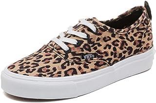 Zapatos de Lona de Las Mujeres Primavera Verano Estampado de Leopardo talón Plano con Cordones Zapatos Casuales Mujer Low Top Fashion Sneakers
