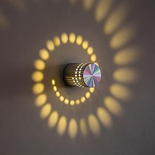 SUNERLORY Lámpara de pared LED, 3 W, decoración para porche, moderna, minimalista, respetuosa con el medio ambiente, de bajo consumo, de aluminio, para salón, dormitorio, cocina, etc.