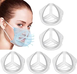 FUGKUOM 3D mask Bracket 3D mask Holder Inner Support Mouth and Nose Protection Lipstick Increase Breathing Space (5pcs)