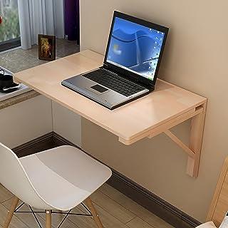 Table murale en bois Table à poser murale Table à manger à feuilles mobiles Bureau d'ordinateur secrétaire Table d'appoint...