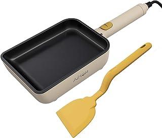 AiHom ih玉子焼き器 電気 フライパン 卵焼き たまごやき 玉子焼き 卵焼き用 たまご焼き機 軽量 高熱効率 IH対応 調理器具 卓上ミニ 正規販売品 19.5×14.5cm