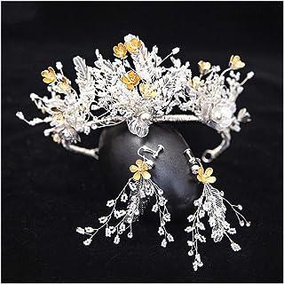GAOJIAN Orecchini Tiara Corona Nuziale Corona di Fiori Semplice in Stile Coreano Accessori da Sposa Abito da Sposa Super Fata