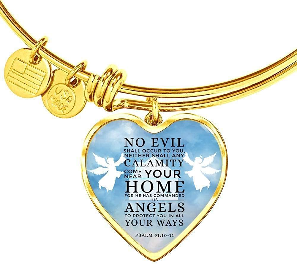 Express Your Love Gifts Christian 5% OFF Bracelet Angel Guardian National products Stainl