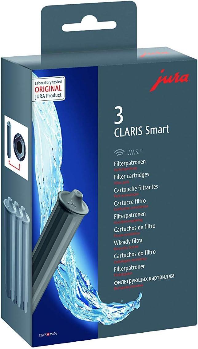 Jura 71794 Filtro de Agua, Gris, 4.5 cm, 1 pack of three print cartridges