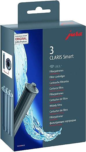 Jura Claris Smart-Filterpatrone, Grau, 3,7 x 14 x 15 cm, 1 Packung mit drei Druckpatronen