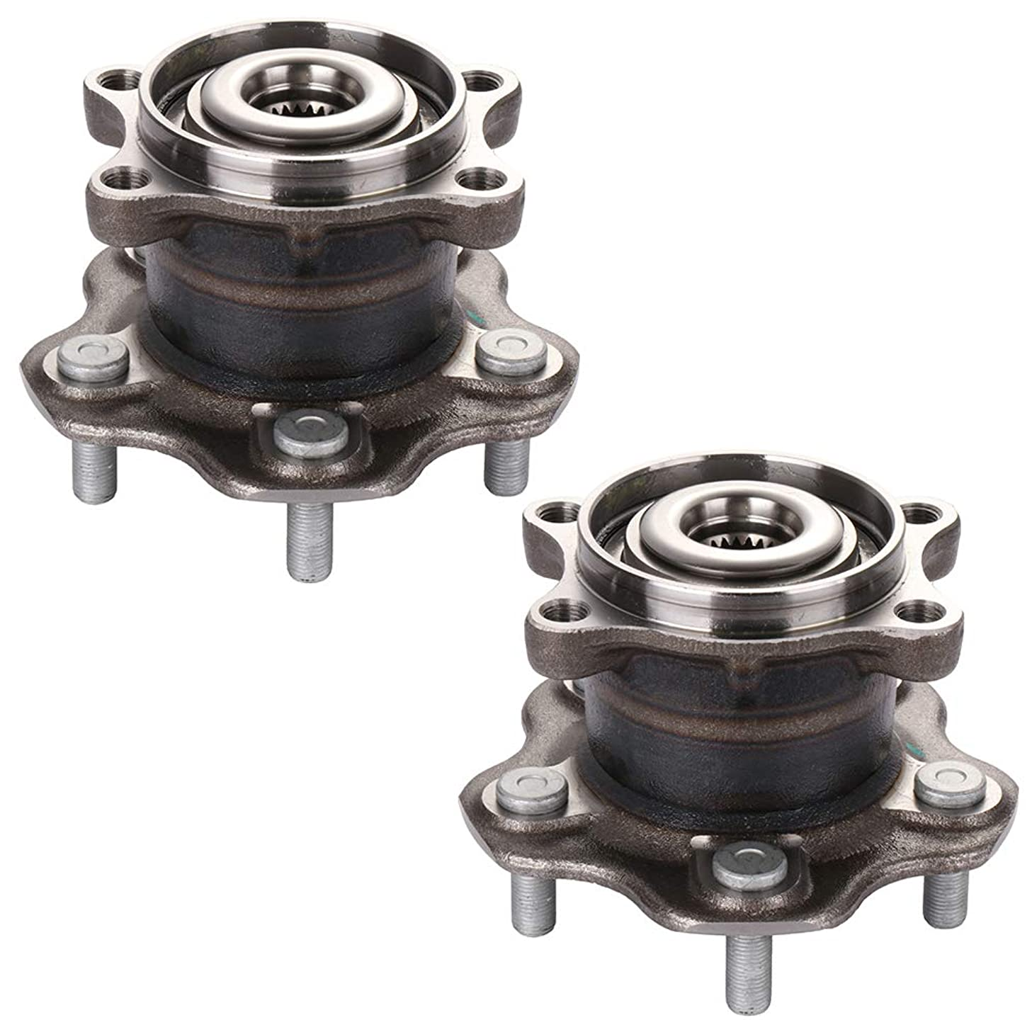 ECCPP Wheel Hub and Bearing Assembly Rear 512373 fit 2006-2019 Nissan Rogue S35 Qashqai J10f Dualis Replacement for 5 lugs Wheel hub Without ABS 2 Pieces