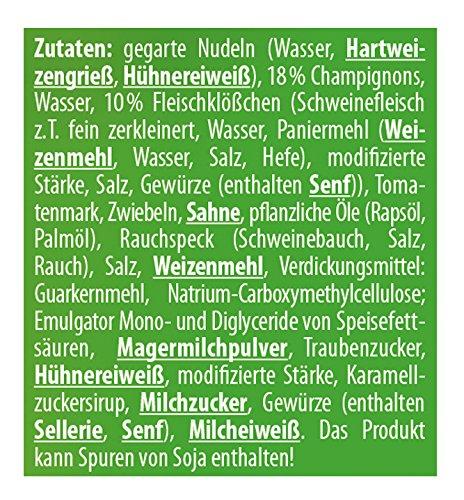 Buss Jägertopf - Nudeln mit Fleischklößchen und Champignons, 12er Pack (12 x 300 g) - 4