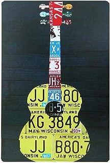 Pared de M/úsica con Punk Jazz Rock Garage Blues Suave Folk G/énero Arte Murky Graphic Ej/ército Verde Beige Yeuss Grunge Cortina de Ducha Juego de decoraci/ón de Tela con Ganchos