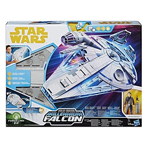 Hasbro Star Wars E0320EU5 Han Solo Film Forcelink 2.0 Millennium Falcon, Spielset