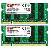 Komputerbay 4GB (2× 2GB) DDR2 800MHz PC2-6300 PC2-6400 DDR2 800 (200 ピン) SODIMM  ノートパソコンのメモリ (2× 2ギガバイト)