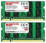 Komputerbay 4GB 2X 2GB DDR2 800MHz PC2-6300 PC2-6400 DDR2 800 (200 PIN) SODIMM...