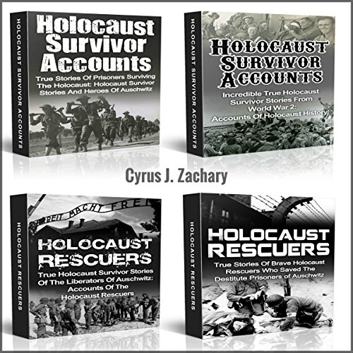 Holocaust Survivor Accounts and Holocaust Rescuers audiobook cover art