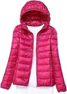 Women Lightweight Packable Down Jacket Winter Water Resistant Foldable Coat