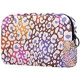 Personalizado Maquillaje Cepillos Bolsa Portátil Bolsas de tocador para las Mujeres Bolso Cosmético Viaje Organizador Colorido Animal Print