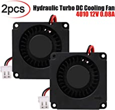 MakerHawk 2pcs Brushless DC Cooling Fan 40mm x 40mm x 10mm 4010 12V 0.08A 3D Printer Fan Hydraulic Turbo Cooling Fan with XH2.54-2P Wire for 3D Printer