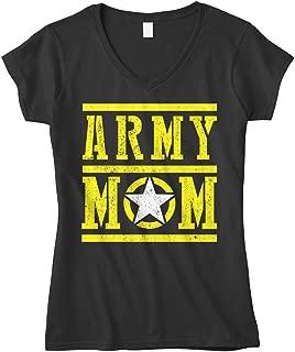 Cybertela Women's Army Mom Fitted V-Neck T-Shirt