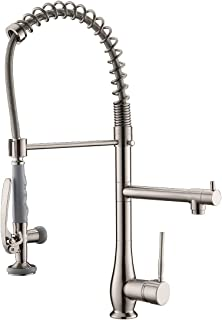 Gimili Commercial Kitchen Faucets With Pull Down Sprayer Stainless Steel Single Ezstl8sc