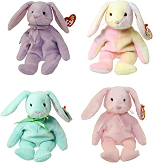 Ty Beanie Babies - Set of 4 Rabbits (Floppity, Hippity, Hoppity & Hippie) (8.5 inch)