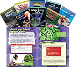 Teacher Created Materials - Mathematics Readers for Middle School Set 1 - 8 Book Set - Grades 6-8 - Guided Reading Level T - V