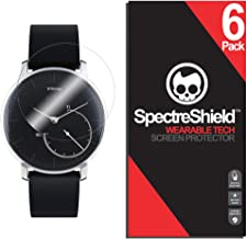Spectre Shield (6 Pack) Screen Protector for Withings Activite Steel Accessory Withings Activite Steel Case Friendly Full Coverage Clear Film