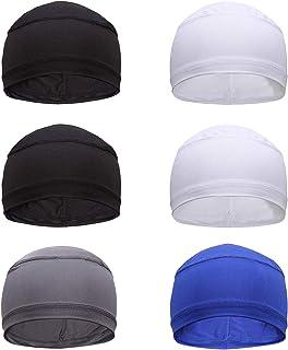 Xgood 6 Pieces Sweat Wicking Helmet Liner Men Cooling Skull Cap Cooling Running Hat Helmet Hard Hat Liner for Men Women Ha...