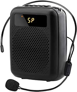 Voice Amplifier Portable FM Radio Wired Speaker Voice Amplifier for Teacher Shopping Guide The Aged Guide and So On Built-in Rechargeable Battery