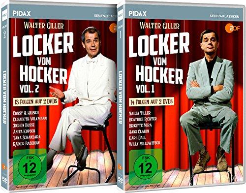Locker vom Hocker - Gesamtedition / Die komplette 27-teilige Sketch-Comedy-Reihe auf 4 DVDs (Pidax Serien-Klassiker)