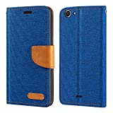 Wiko Pulp 4G Case, Oxford Leather Wallet Case with Soft TPU