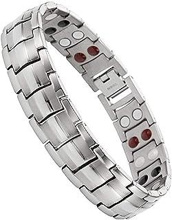Magnetisches Armband Magnetfeldtherapie-Armband für Herren mit doppelten 4..