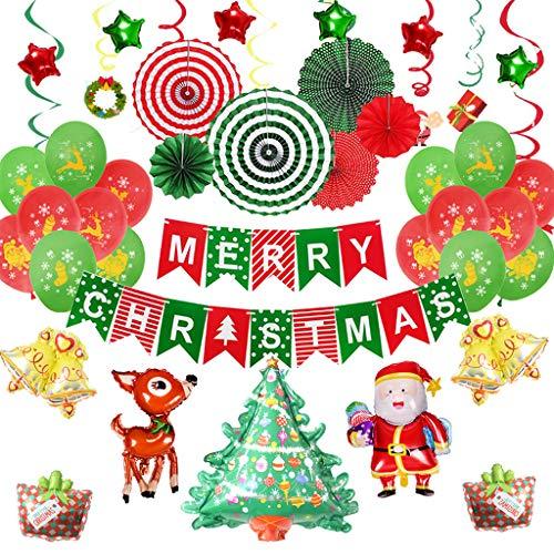 Globos de Navidad para decorar el árbol de Navidad, diseño con texto'Happy New Year...