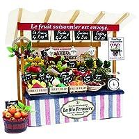 ビリー 手作りドールハウスキット パリのマルシェキット パリの果物屋さん 8843