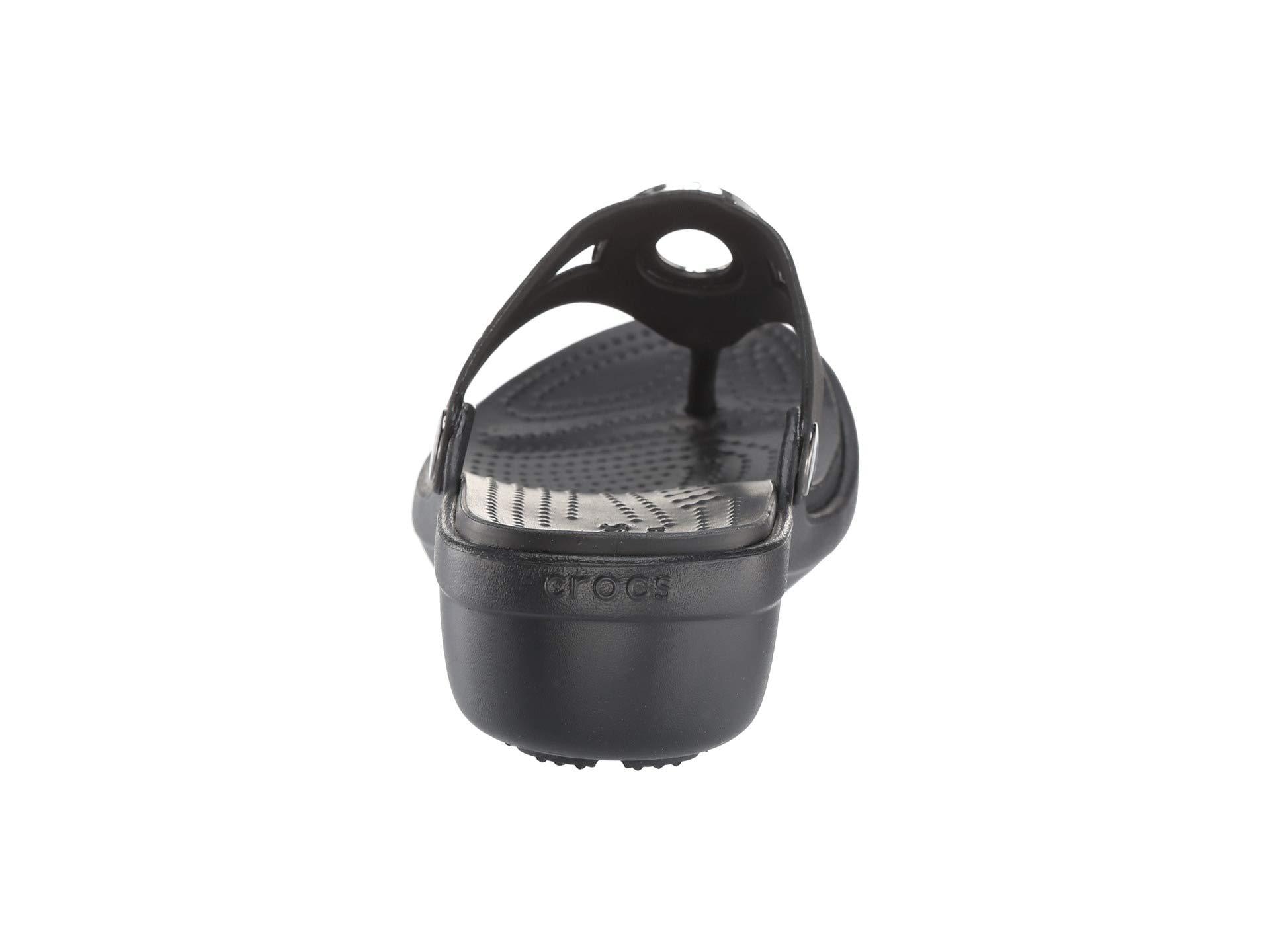 black Wedge Metal Metal Block Sanrah Flip Crocs Multi Otn0B6wnq