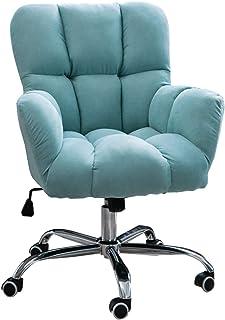 Silla de Escritorio de Oficina Bonita silla de escritorio, silla de oficina giratoria con soporte lumbar ajustable para niña, silla de terciopelo con ruedas para oficina en casa, sala de estudio de