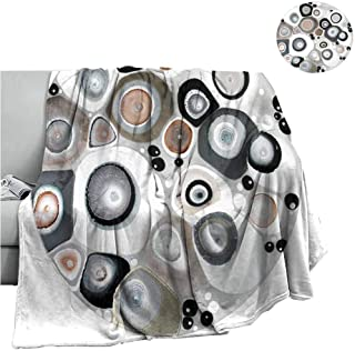 Cranekey Warm Baby Wrapped Crib Blanket Graphics Art Elements Geometry Abstract,Throw Rug Sofa Bedding W70 x L84 Inch