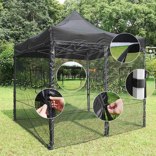Yescom EZ Pop Up 10 ft Canopy Tent Mesh Side Wall Commercial Party Tent Shelter Sidewall with Window (Pack of 4)
