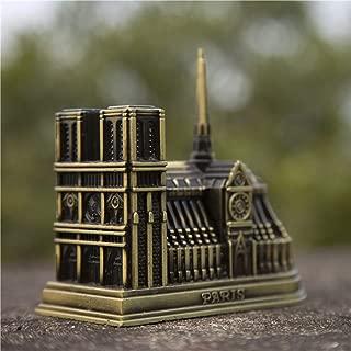 Anzorhal Notre Dame de Paris Model, Notre Dame Ornament,Paris Notre Dame Building Figurine,Vintage Home Office Desktop Decor Gift Memento,France French Souvenir Notre-Dame de Paris